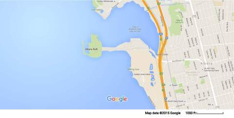 Google Map of Albany Bulb and Surrounding Area